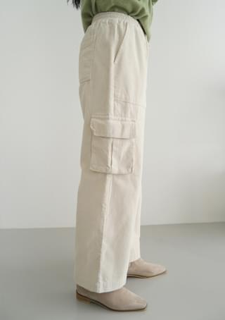corduroy cargo pocket pants 長褲
