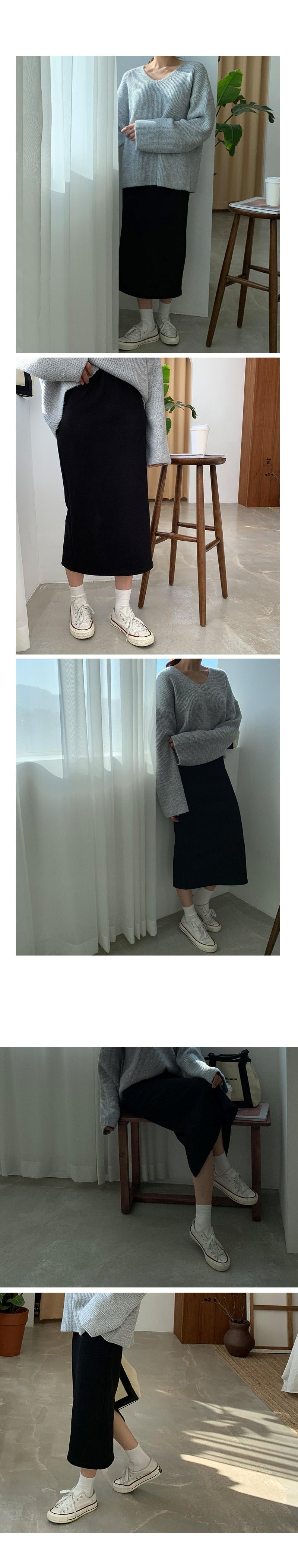 Basic cotton banding skirt