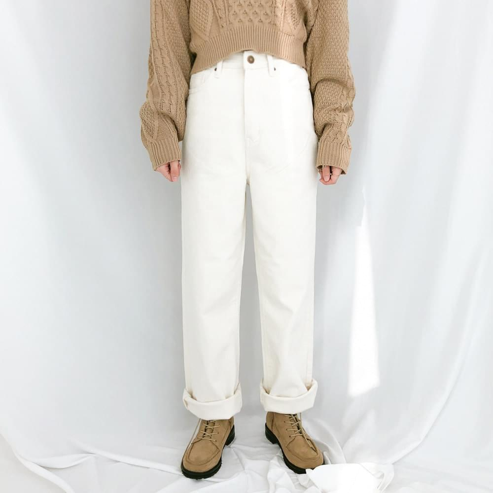 7719 napping wide flat cotton pants