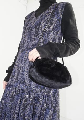 soft fake fur mini bag