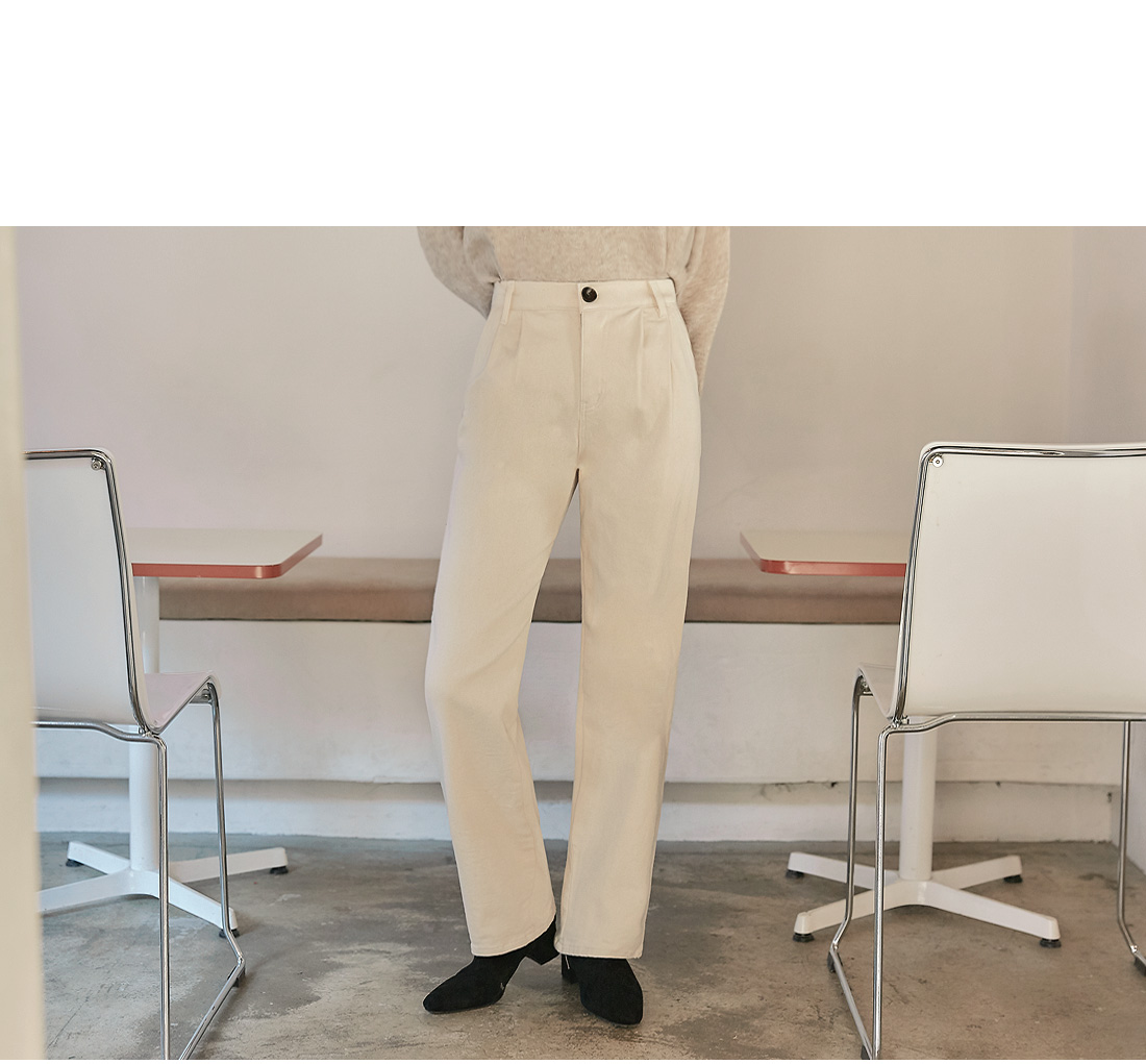 CLEND NAPPING COTTON PANTS