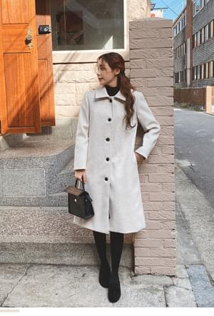 Chic single-button lining quilted coat