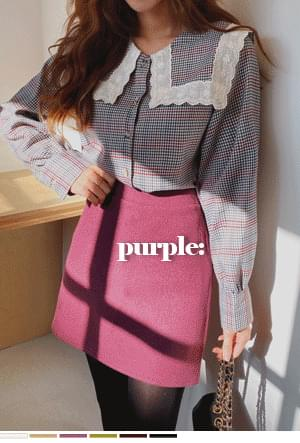 Daily life fit planning wool skirt