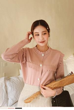 Gentle pearl button knit