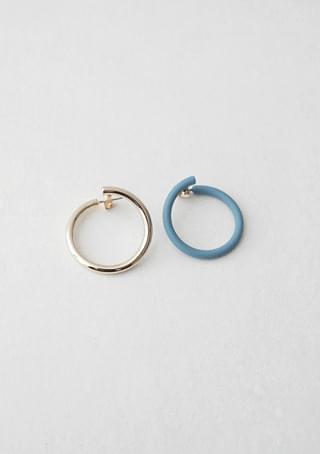 matt color gold mix earrings