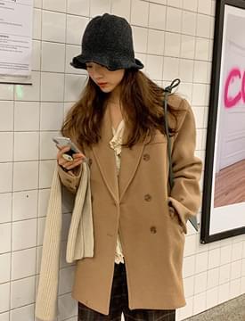 Verni wool half coat_Y (size : free)