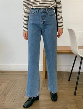 Dust straight denim pants_H