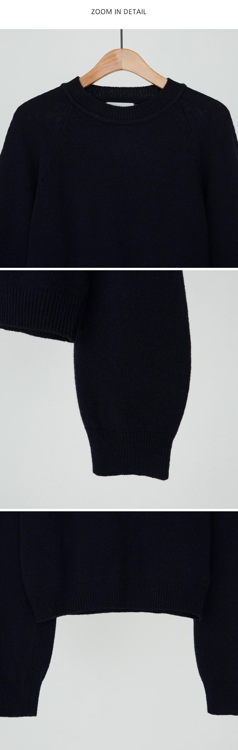 Nagrand Wool Crop Knit-knit