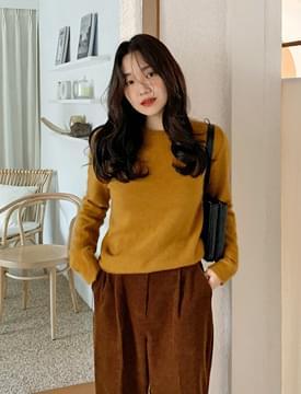 Simple merino wool knit_U (size : free)