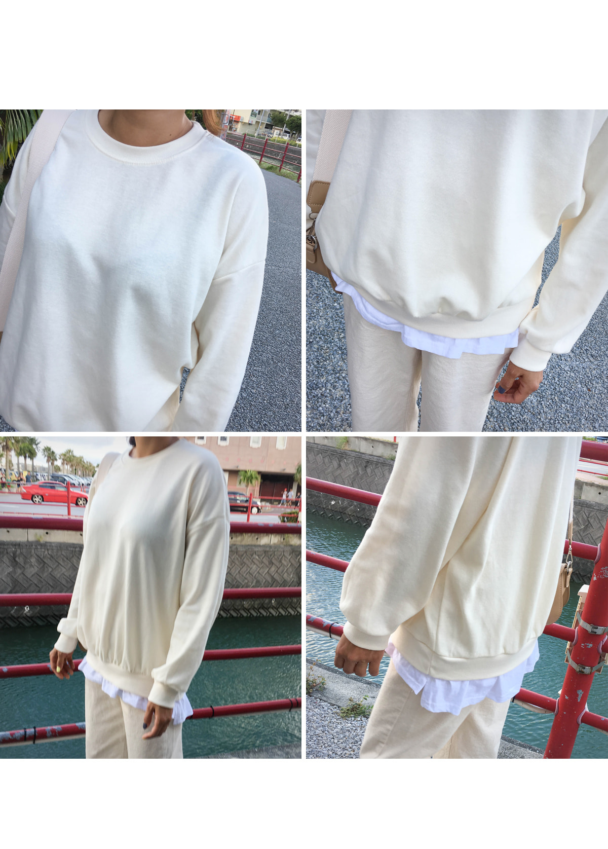 Layered Picnic sweat shirt