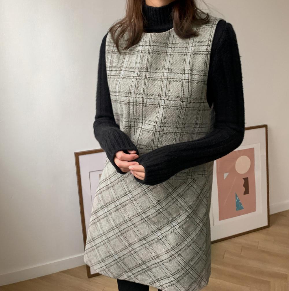 Classic Check Mini Dress-ops