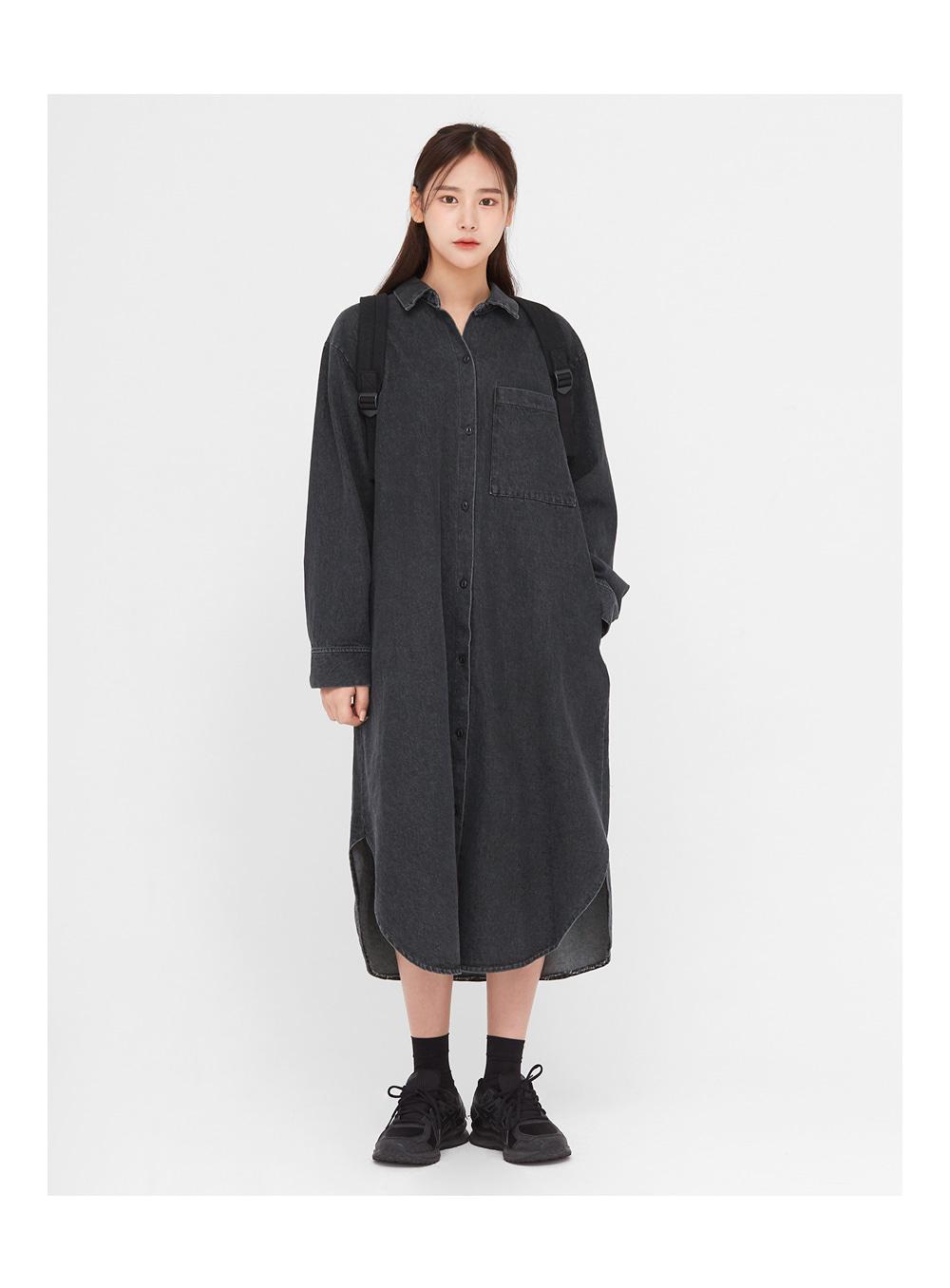wear black denim long ops