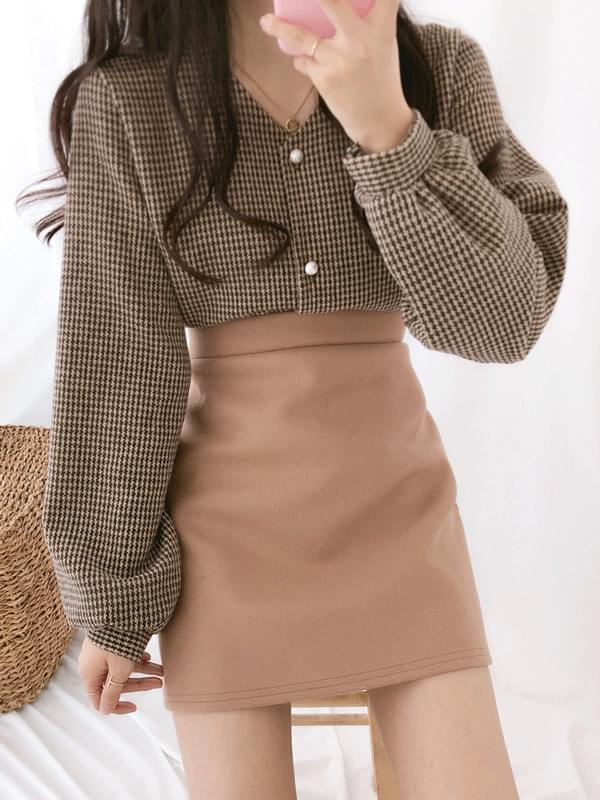 Chidori button blouse