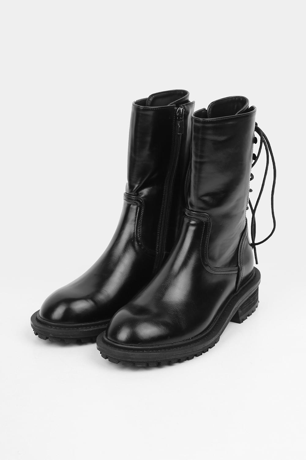 back strap middle boots (2colors)