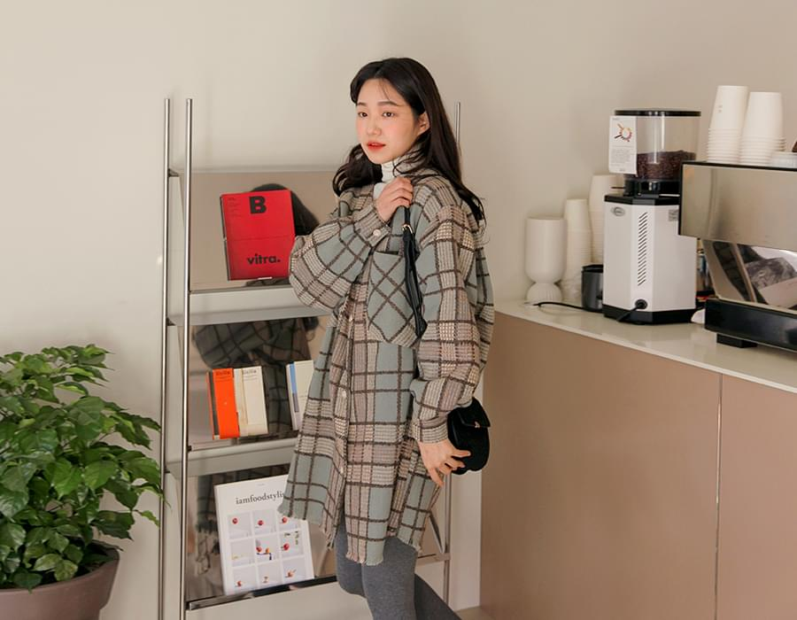 Tweed check midi ops (size : free)