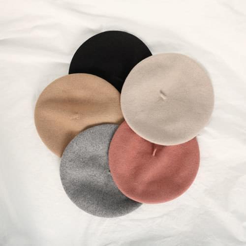 輕甜氣質柔色羊毛貝蕾帽