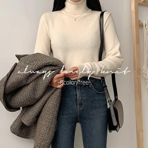 Goth turtle knit