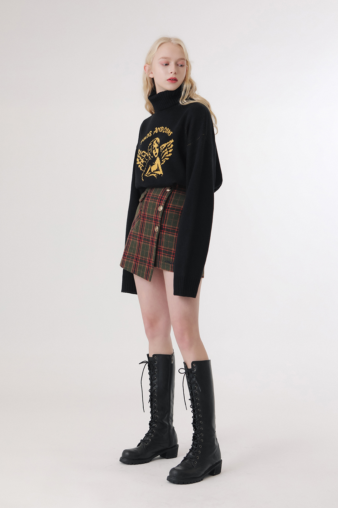 Lonely Angel High Neck Knit