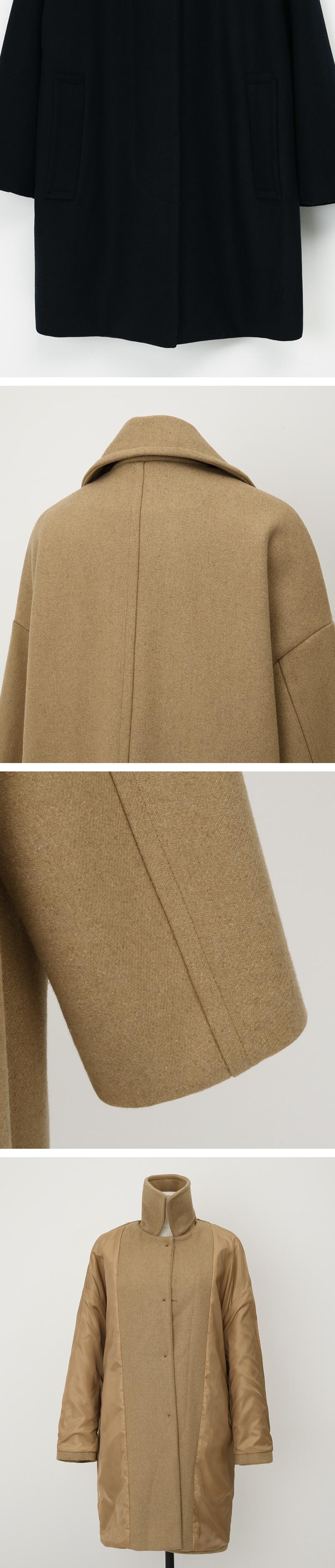 Merd collar wool coat_A (size : free)
