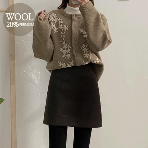 Sayed Wool Skirt