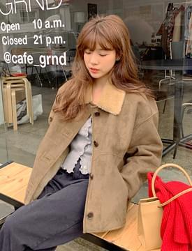 Woolen warm mustang jacket_J (size : free)
