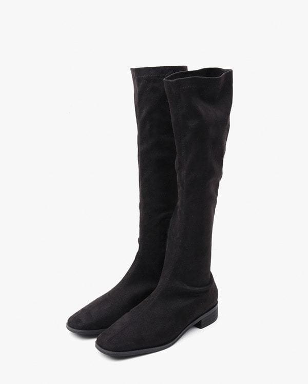 a knee high socks suede boots (230-250)