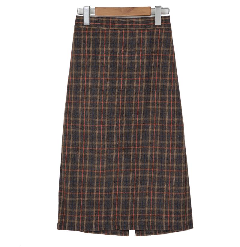 Berny wool long skirt_Y (size : free)