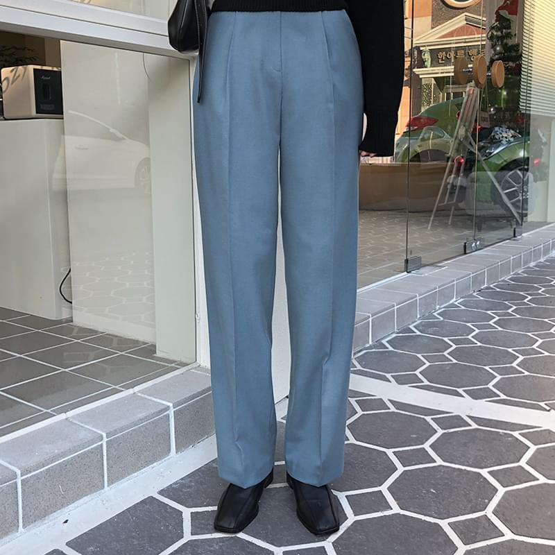 Mesh pin tuck pants pants