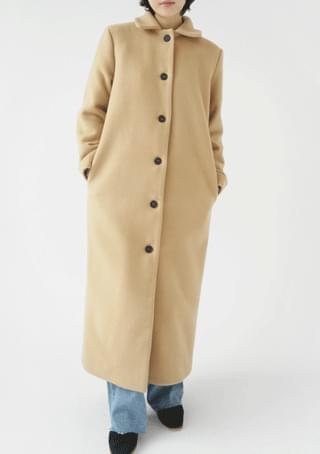 refined double wool maxi coat (2colors)