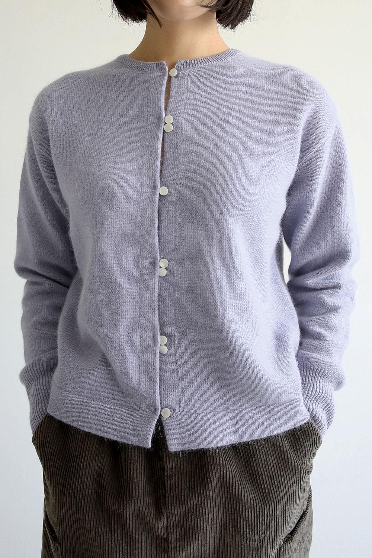 kitsch button angora cardigan