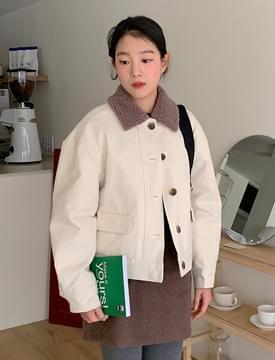 Dumble collar short jacket_J