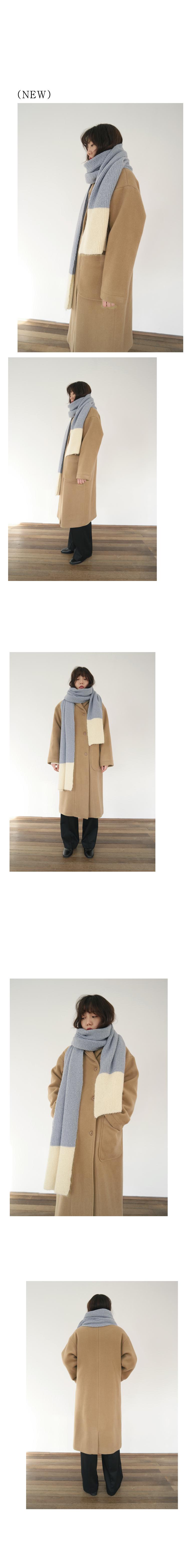 shawl collar wool coat (2colors)