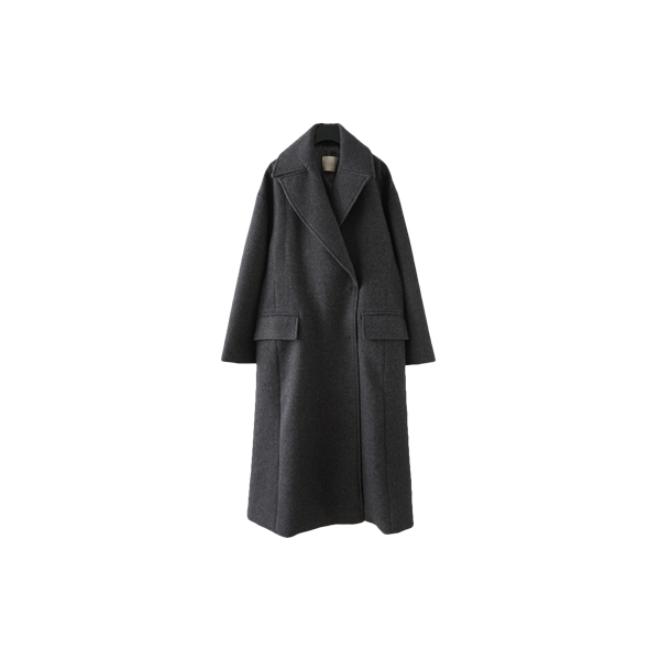 semi flared line coat