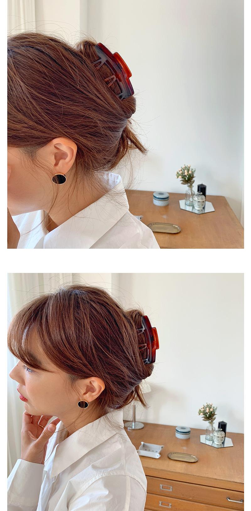 Velvet circle earring_H