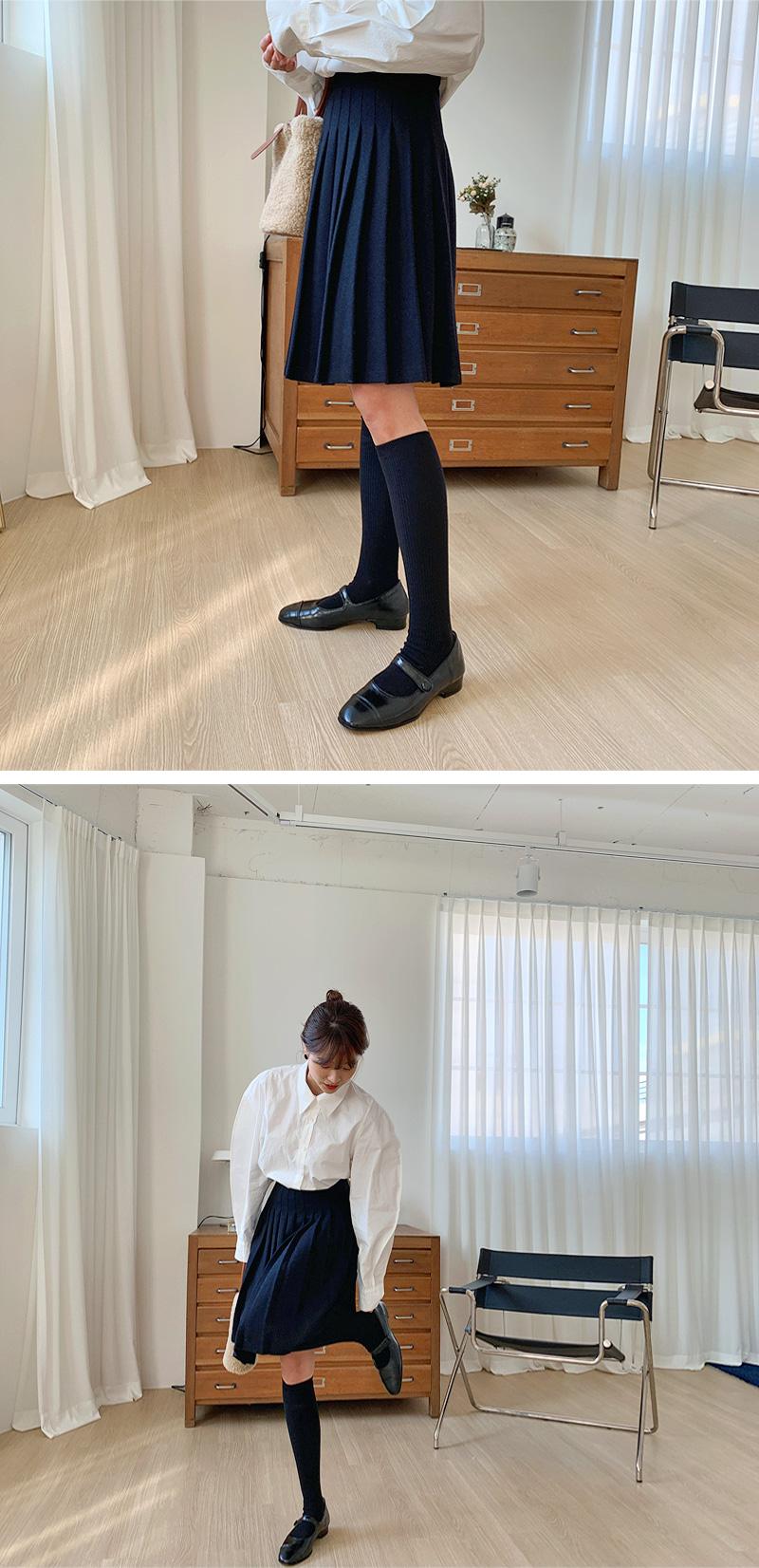 Simple golgi knee socks_H
