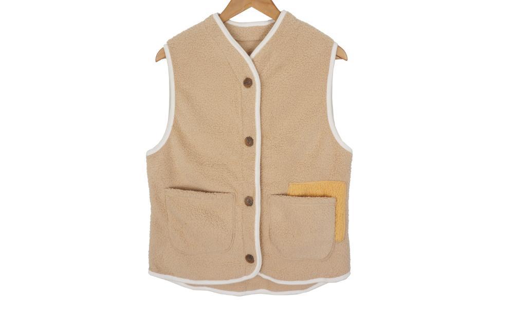 Pocket Boa Fleece Vest