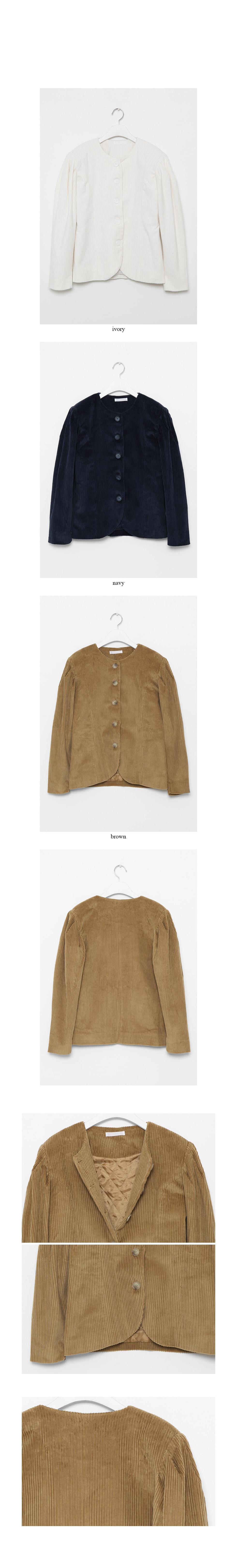 puff detail corduroy jacket