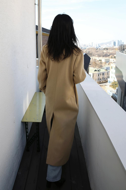 plain slim long coat (2colors)