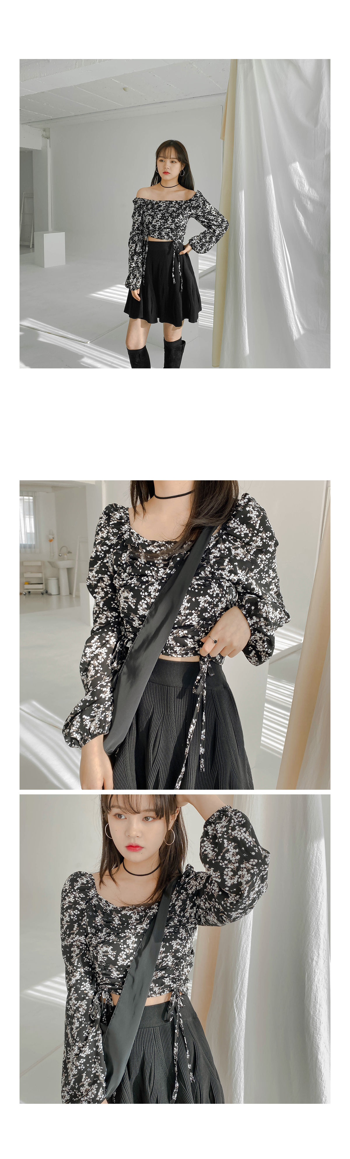 String lash chiffon blouse