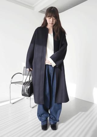 non-collar cashmere coat (2colors)