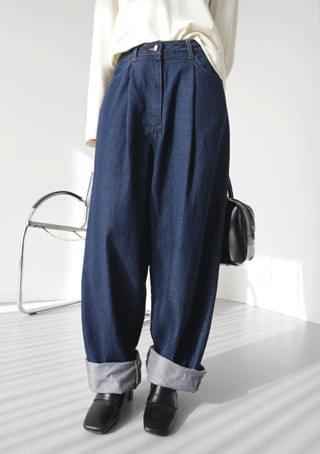 steady cotton denim pants 牛仔褲