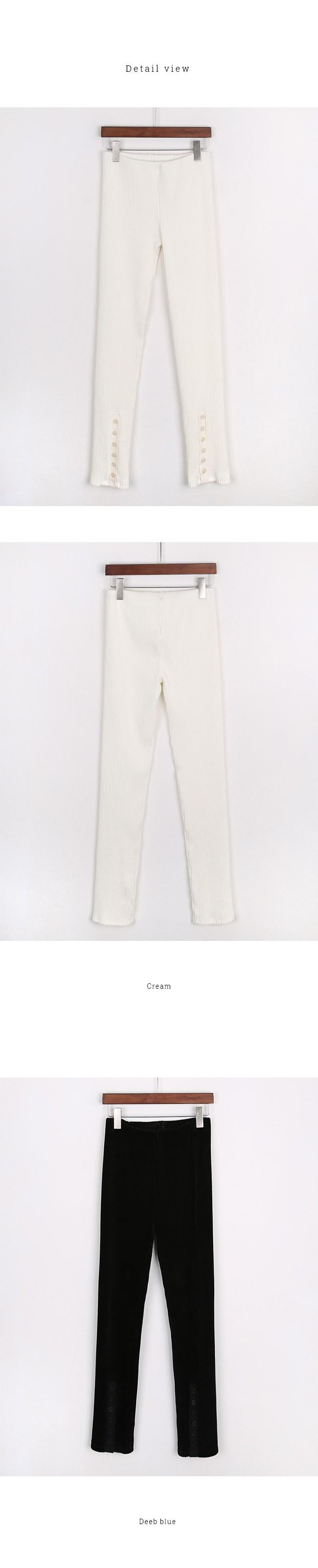 Velvet Button Pants