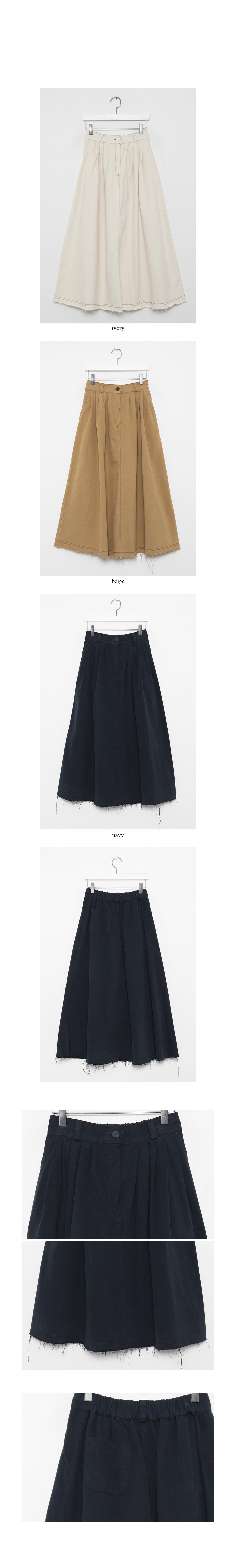 stitch tuck flair skirts