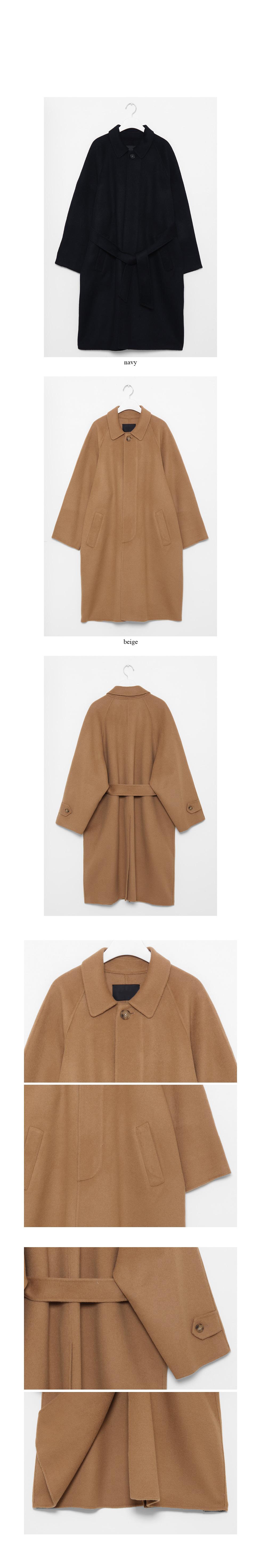 silky texture wool coat