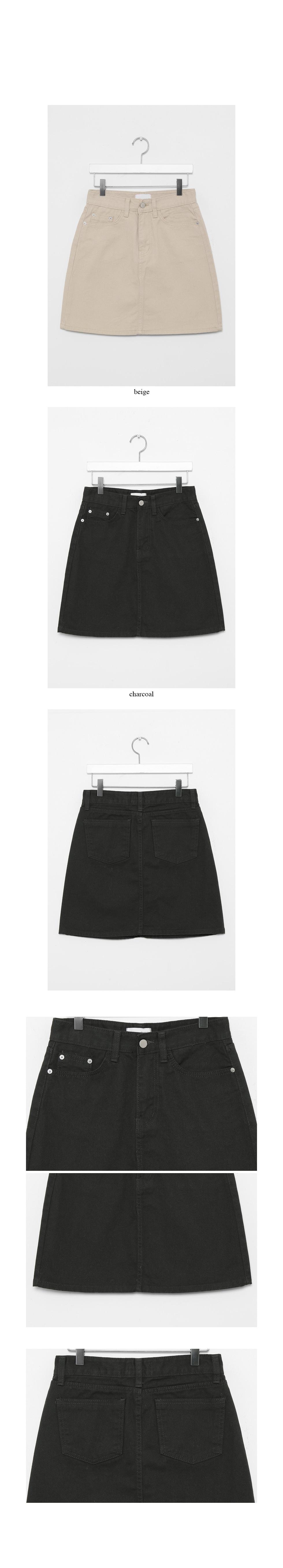 solid cotton mini skirts