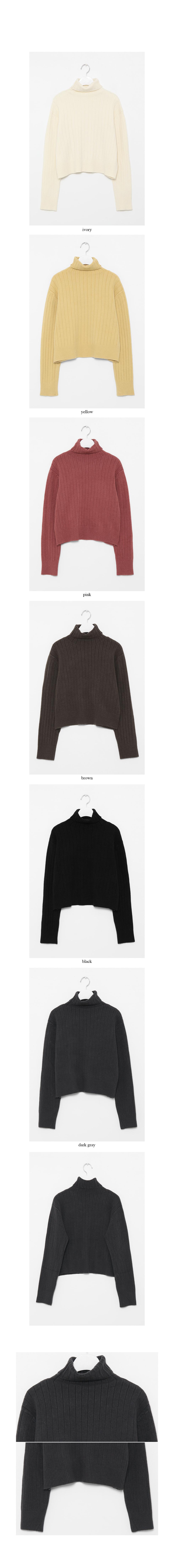 brunch crop pola knit