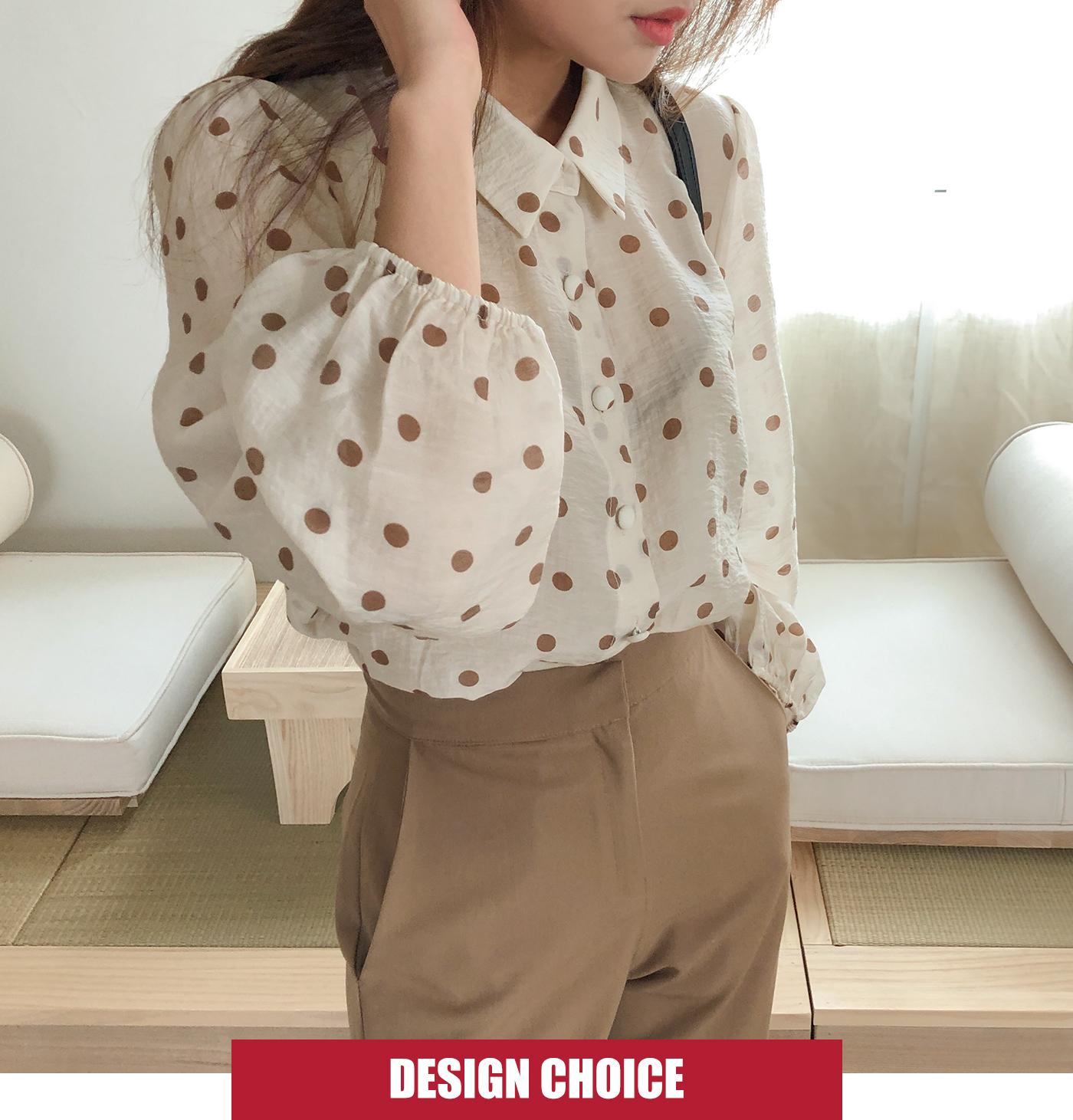 Flynn dot blouse
