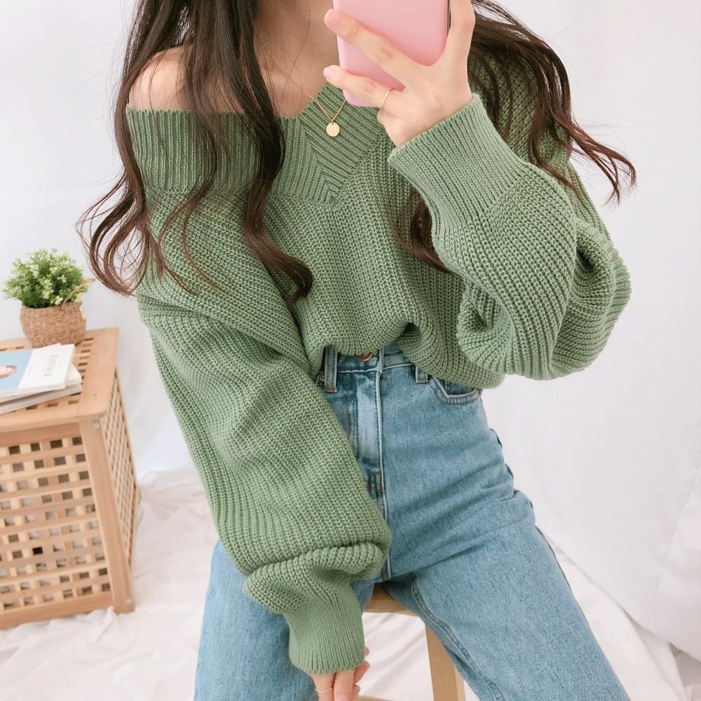 Sharon V neck knit