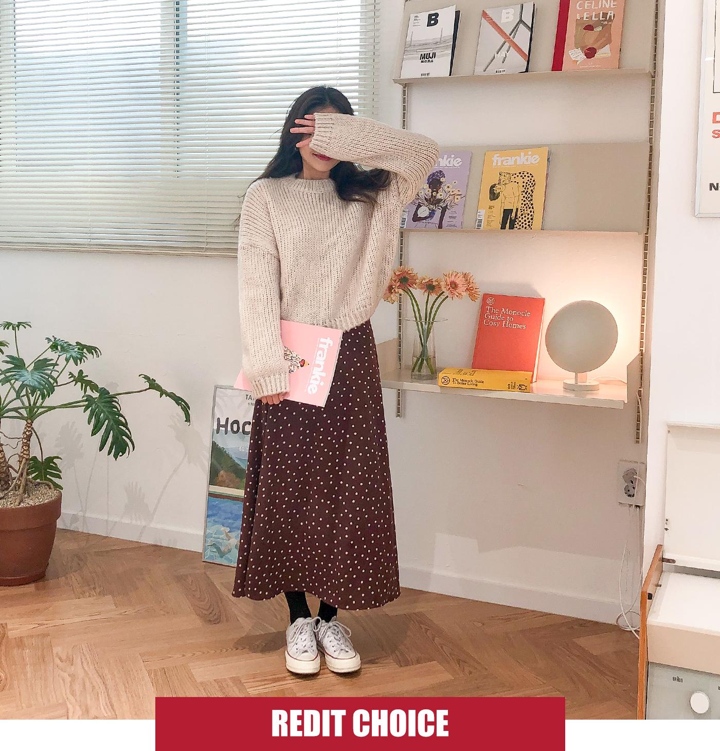 Devon dot skirt