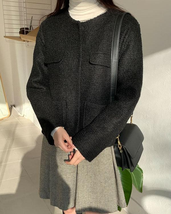for classic napping wool jacket